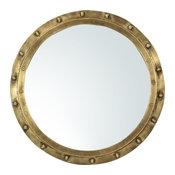 Wall Mirror Dovetail Saltoun Nautical Porthole Round Brass Finish