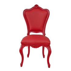 French Victorian Style Outdoor Chair, Monza Red