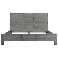 Moes Home Felix Platform Bed, Gray