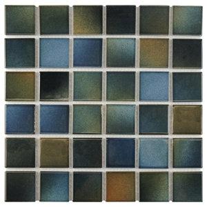 "Knight Porcelain Mosaic Floor/Wall Tile, Brook, Sample Card, 3""x4"""