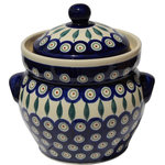 "Zaklady Ceramiczne Boleslawiec - Polish Pottery Fermenting Crock Pot 7 Cups, Pattern Number: 56 - Product details:  Dimensions: Height: 6"" (with no lid) Capacity: 7 cups"