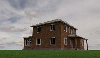 Разработка концепции 2-х этажного коттеджа площадью 200м2
