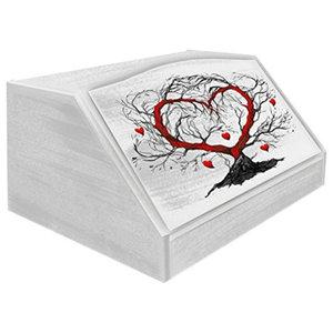 L'albero Dell'amore Wooden Bread Bin, White