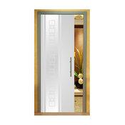 Frameless Glass Pocket Sliding Door and Frosted Design, Custom Size, Opaque, Lef
