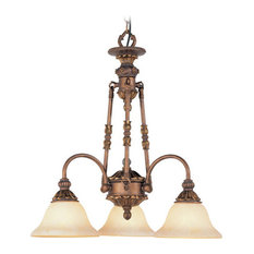 Sovereign Chandelier, Crackled Greek Bronze With Aged Gold Accents