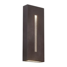 "WAC Lighting Tao 18"" LED Indoor or Outdoor Wall Light, Bronze"