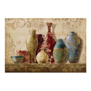 """""""Foil Vases"""" Canvas Painting, 90x60 cm"""