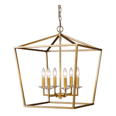Kennedy 6-Light Pendant Antique Gold