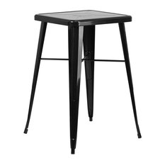 """Brimmes Square 23.75'' Black Bar Height Metal Table, 40"""""""