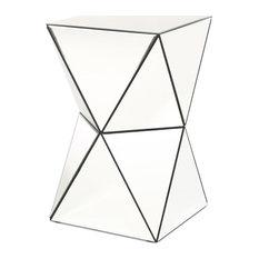 GDF Studio Aedon Mirrored Side Table