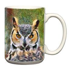 15 Ounce Great Horned Owl 'Hooty' Ceramic Coffee/Latte Mug