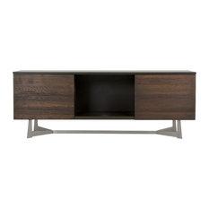 Vig Furniture Inc. - Modrest Wharton Modern Dark Aged Oak TV Stand - Entertainment Centers and Tv Stands