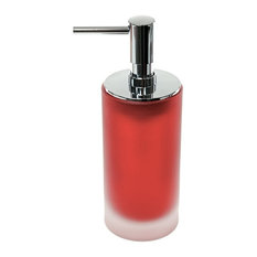 Nameeks Frosted Gl Soap Dispenser Red Lotion Dispensers