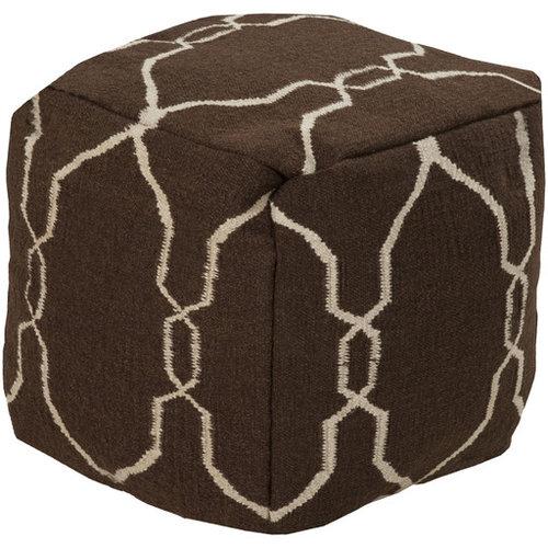 Surya Poufs- (POUF-21) - Floor Pillows And Poufs