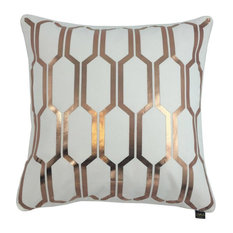 Honey Metallic Cushion Cover, White and Rose