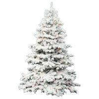 """Vickerman 10'x82"""" Flocked Alaskan Christmas Tree, 2883T LED, 1400 Multi Colored"""