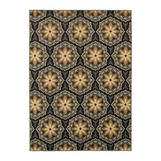 Oriental Weavers   Oriental Weavers Stratton Floral Panel Blue/Brown Rug   Area  Rugs