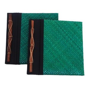 Lucky Coin Wood And Natural Fibers Photo Album 4x6 Asian Books By Novica