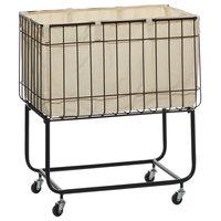 Multi Colored Contemporary Metal Storage Cart, 26x24