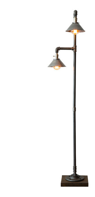 Edison bulb floor lamp metal shade