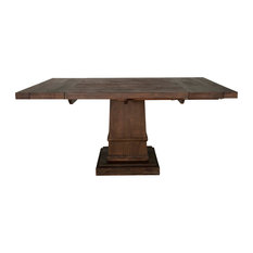1st Avenue - Davis Square Extension Dining Table, Rustic Java - Dining Tables