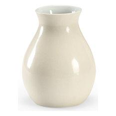 Cream Vase, Antique White Crackle Glaze