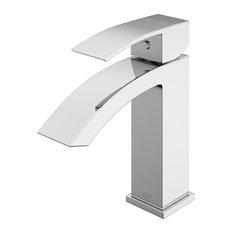 VIGO Satro Single Lever Single Hole Bathroom Sink Faucet, Chrome