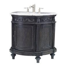 Ambella Home Collection Demilune Sink Chest Black