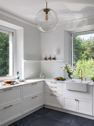 Фьюжн Кухня by AC+CA architecture I interier