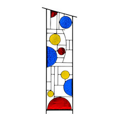 Large Stained Glass Garden Decoration, 'Primary Pizazz'