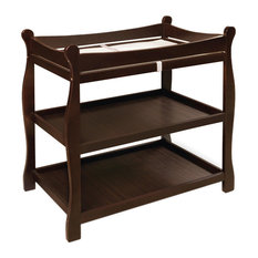 Badger Basket Co. Espresso Sleigh Style Changing Table