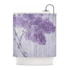 "Suzanne Harford ""Lilacs"" Purple Floral Shower Curtain"