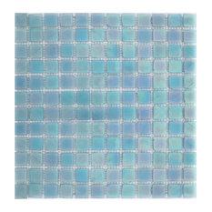 12.25x12.25 Artic Sky Tile, Iridescent Light Blue