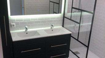 Rénovation de salle de bain - Noire et Blanche