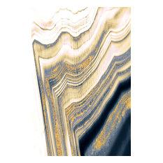 """""""Golden Geode"""" Metal, 24""""x36"""""""