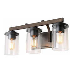 LALUZ 3-Light Vanity Light Bathroom Wall lights Rustic Wall Sconces
