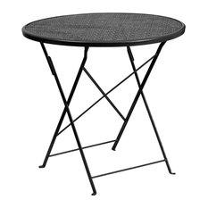 "30"" Folding Patio Table, Black"