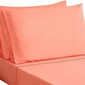 Honeymoon Super Soft 4-Piece Bed Sheet Set,, Coral, Full