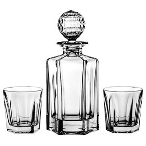 7-Piece Lead Crystal Decanter and Whisky Glasses Set