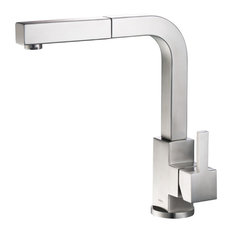 Deus, Dual Spray Stainless Steel Kitchen Faucet With Pull Out