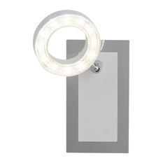 White Adjustable Metal LED Ring Spotlight