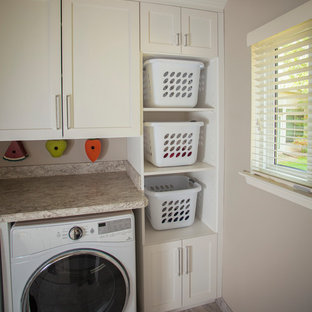 Laundry Room With A Farmhouse Sink