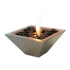 Anywhere Fireplace - Anywhere Fireplace Indoor/Outdoor, Empire With Polished Black Rocks - Tabletop Fireplaces