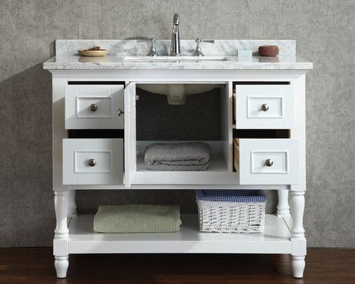 New 42 Cape Cod Bathroom Vanity White