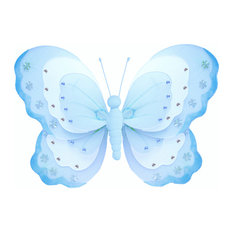 Butterfly Decorations X-Large Blue Hanging Triple Layered Wall Ceiling Nursery