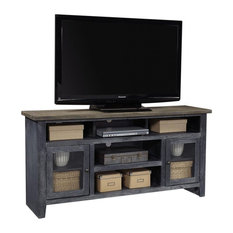 Aspenhome Eastport WME1065-DBK 65-inch TV Console With 2 Doors Drifted Black