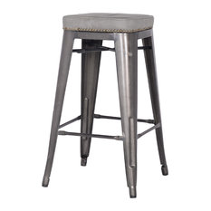 Metropolis Counter Stools, Mist Gray, Set of 4