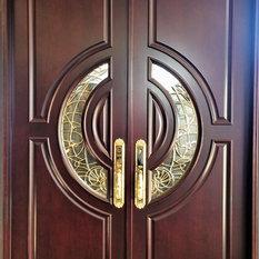 Global Entry Doors   Mahogany Exterior Home Front Entry Door, 5u0027x6u00278