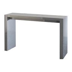 Contemporary Wooden Bar Table, Gray Lacquer