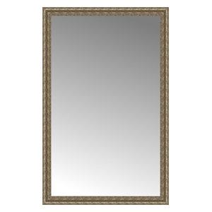 """38""""x59"""" Custom Framed Mirror, Distressed Silver"""